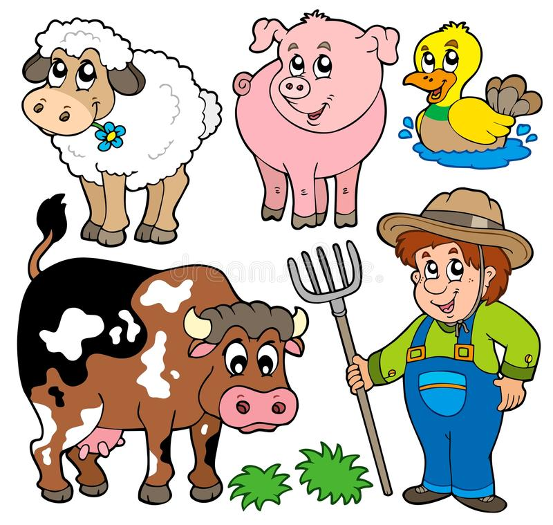 Download Farm cartoons collection stock vector. Image of looking - 14667605