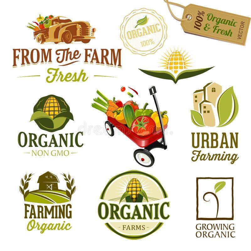 Farm & the city - Illustration royalty free illustration