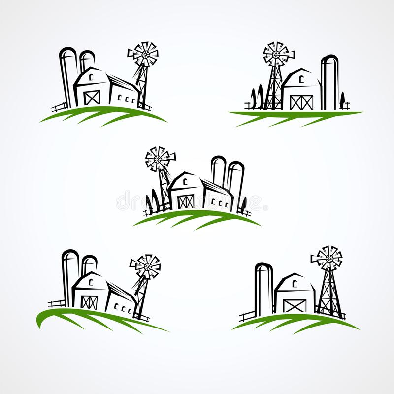 Farm collection icon set. Vector stock photos