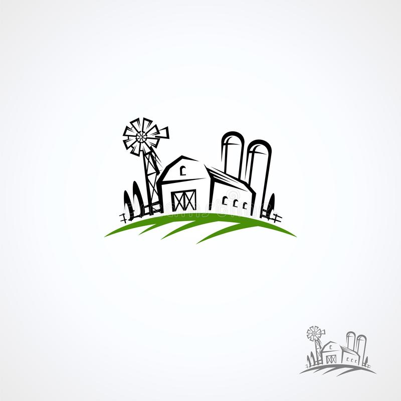 Farm collection icon set. Vector royalty free stock image