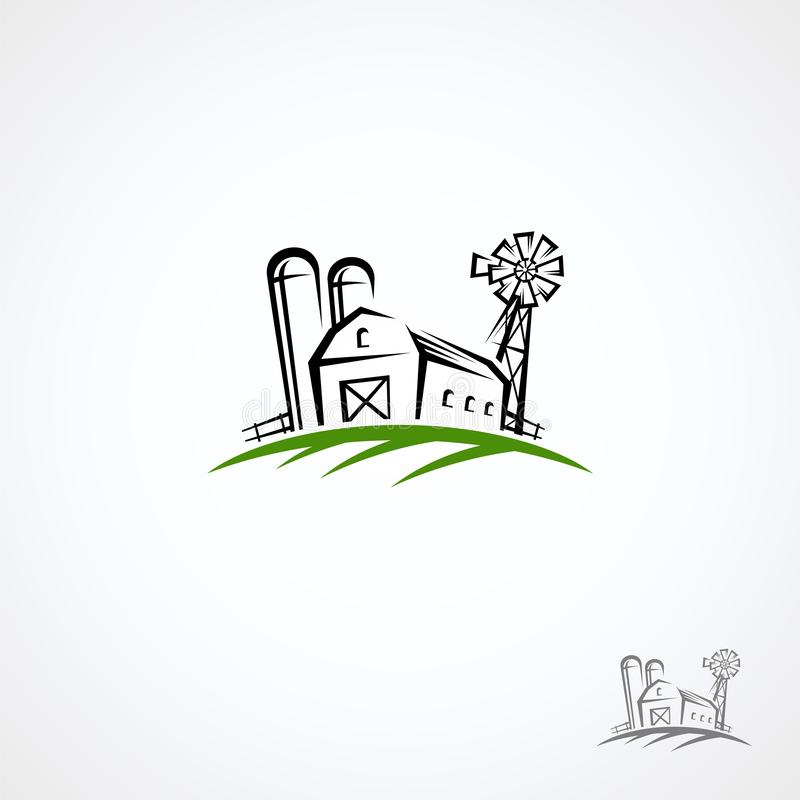 Farm collection icon set. Vector stock photo
