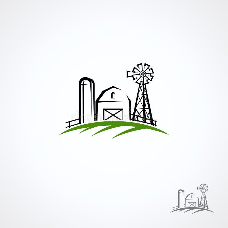 Farm collection icon set. Vector royalty free stock photo