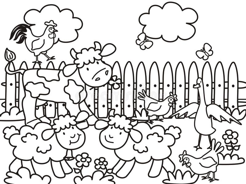 coloring book farm animals - Selo.l-ink.co