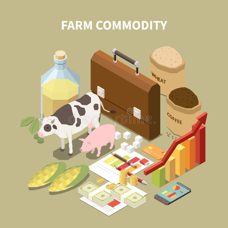 Free Farm Commodity Isometric Composition Royalty Free Stock Photos - 190756228