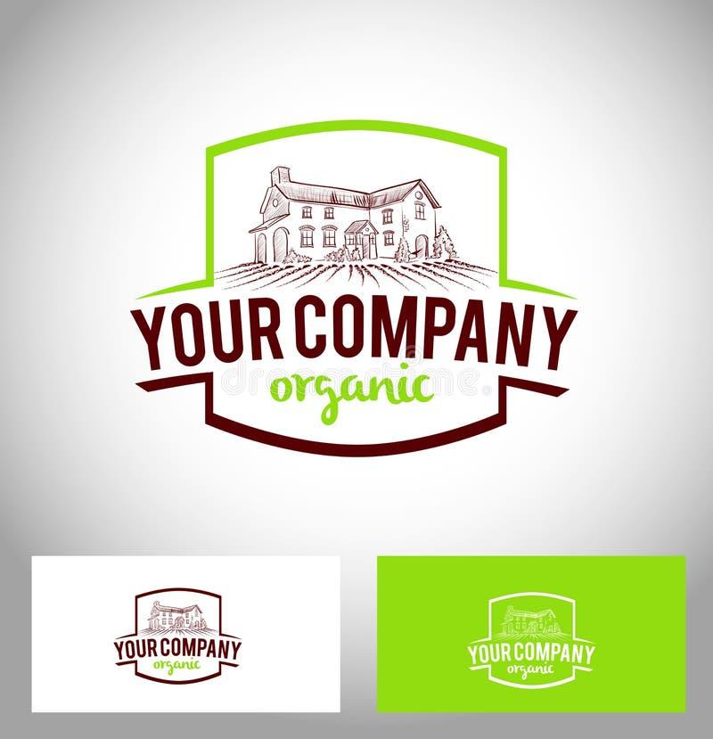 Farm Company Logo. Farming Icon Creative Farm Vector Icon and business card template vector illustration