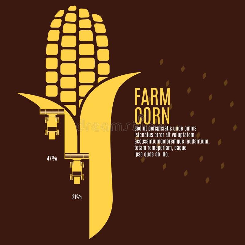 Farm corn vector illustration royalty free illustration