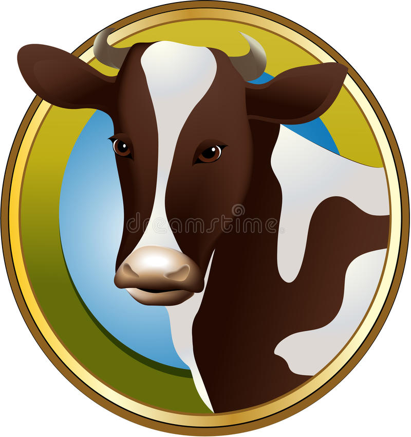 Download Farm cow stock vector. Image of agriculture, dairy, illustration - 29023816