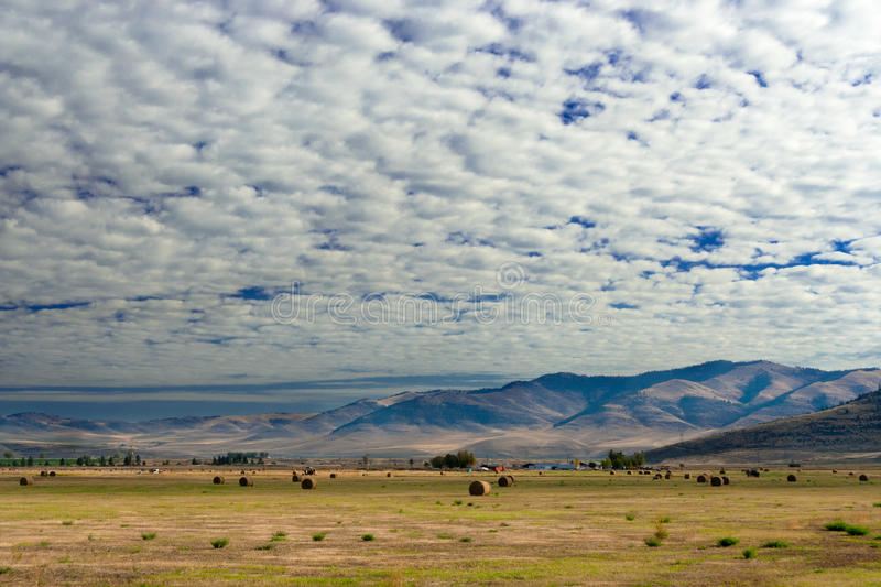 Download Farm With Cumulus Clouds, Montana Stock Photo - Image: 20691930