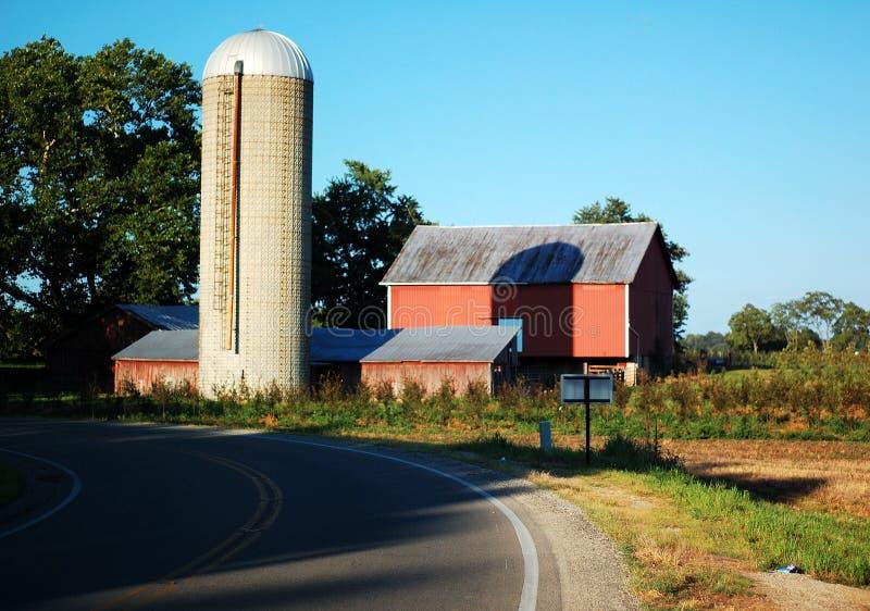 Farm on a Curve stock image