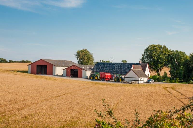 Farm in Denmark stock image