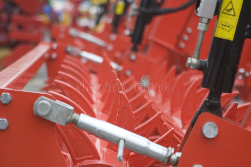 Farm equipment. Agricultural farm machinery, heavy equipment royalty free stock photos