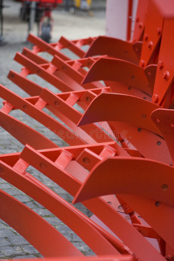 Farm equipment. Agricultural farm machinery, heavy equipment royalty free stock photo