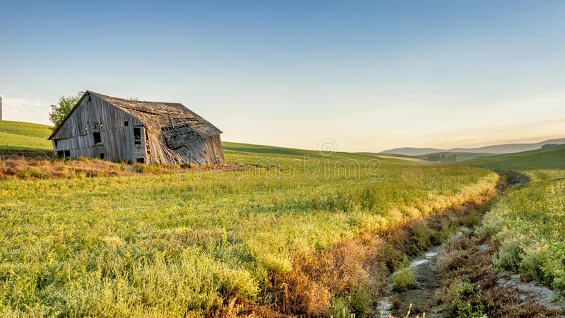 Download Farm Field Drainage And Barn At Sunrise Royalty Free Stock Photo - Image: 33999415