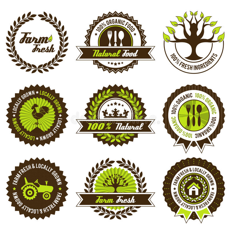 Download Farm Fresh Label Set Royalty Free Stock Photos - Image: 33775568