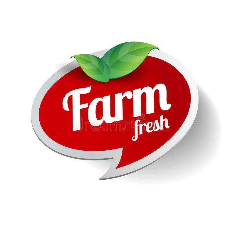 Farm Fresh label stock illustration