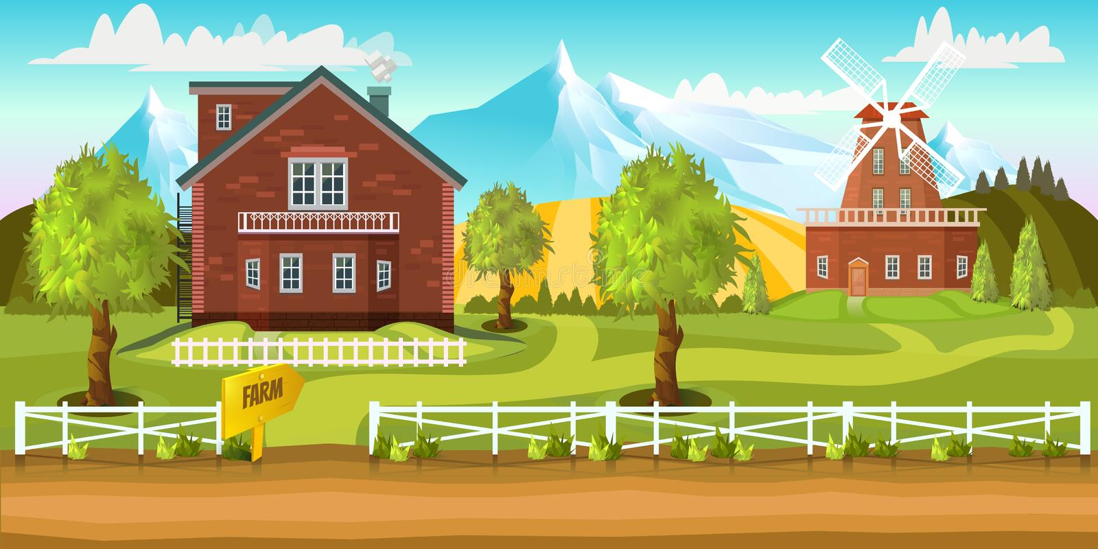 Farm Game Background Stock Vector Illustration Of Clipart