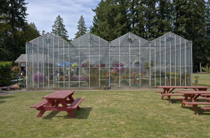 Farm and garden nursery in Canby Oregon. stock photo