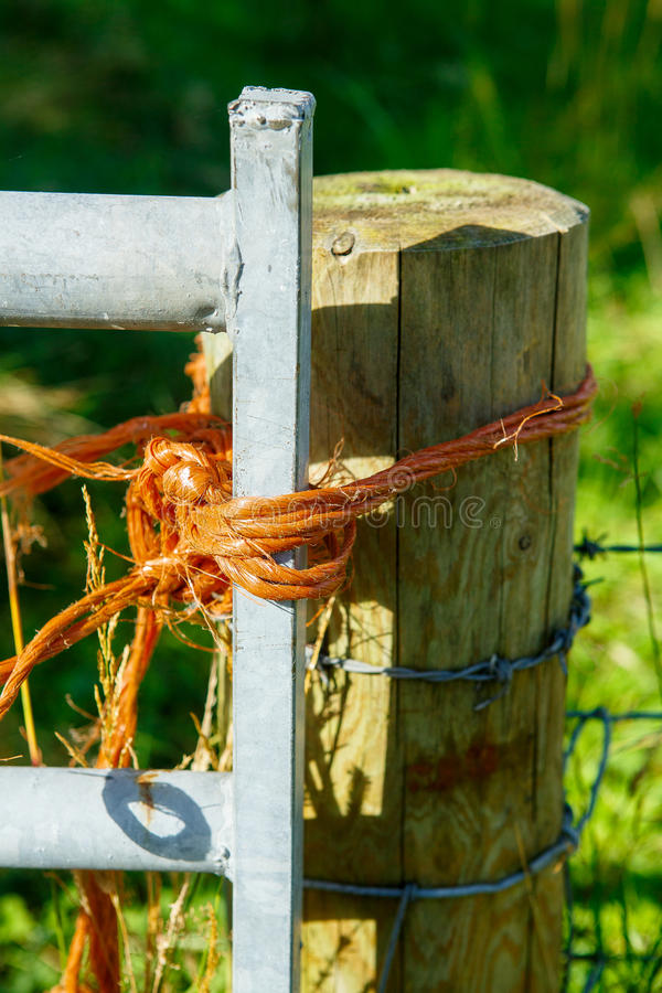 Farm Gate Post royalty free stock image