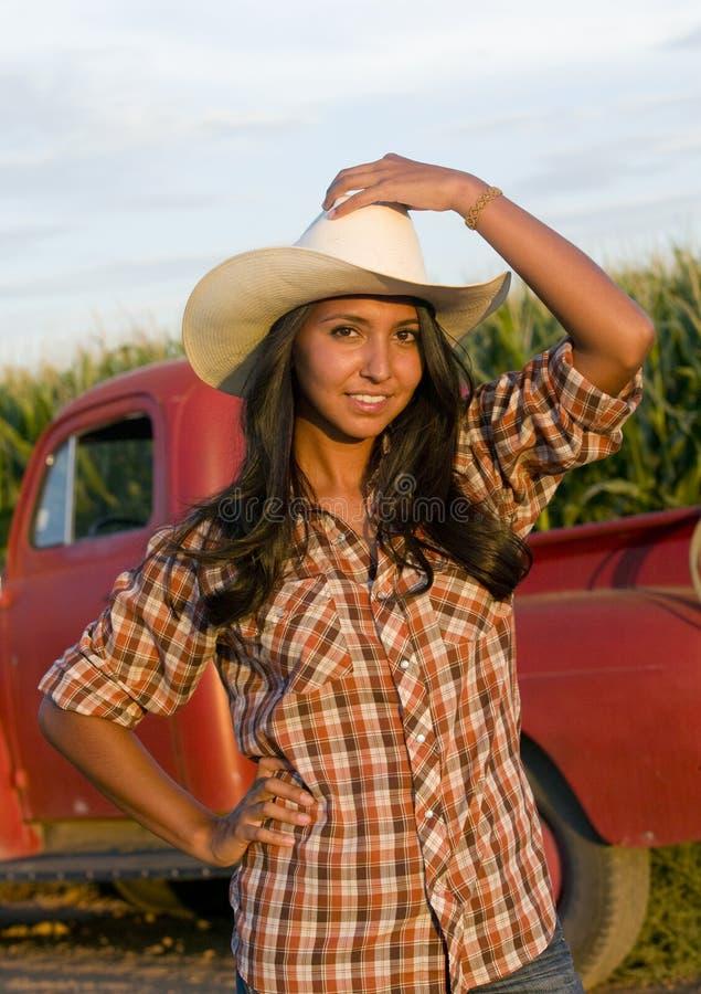 Farm Girl royalty free stock image