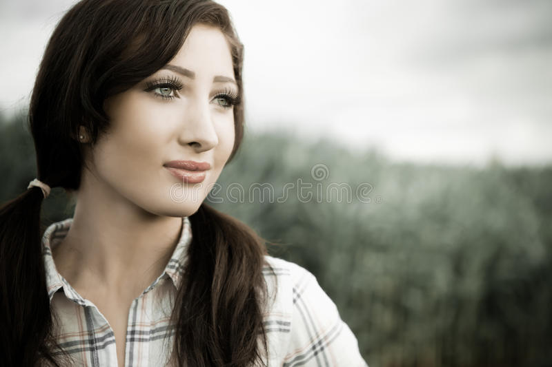 Download Farm girl stock photo. Image of rural, copyspace, young - 17205224
