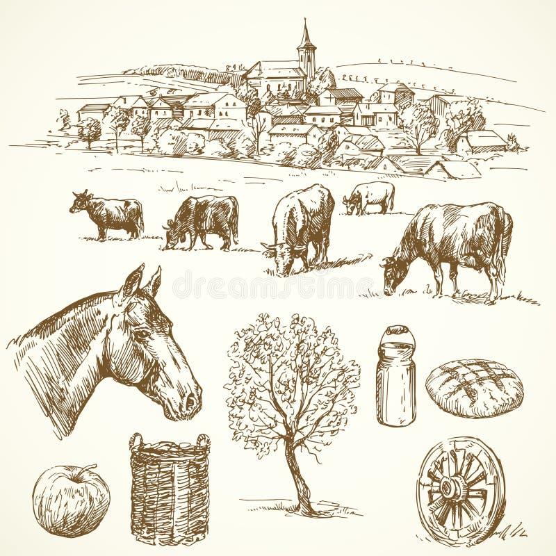 Farm - hand drawn collection