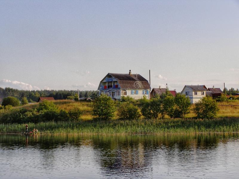 Farm House Seliger Lake Russia royalty free stock image
