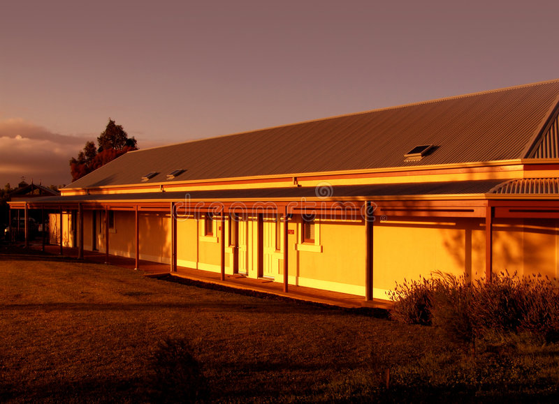 Download Farm House At Sunrise Royalty Free Stock Photography - Image: 281627