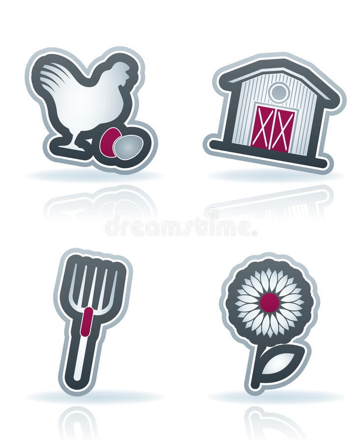 Download Farm Icons stock vector. Image of icon, cultivation, agriculture - 25767635