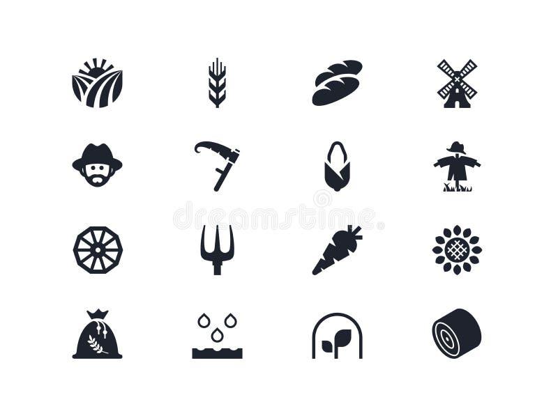 Farm icons. Lyra series royalty free stock image