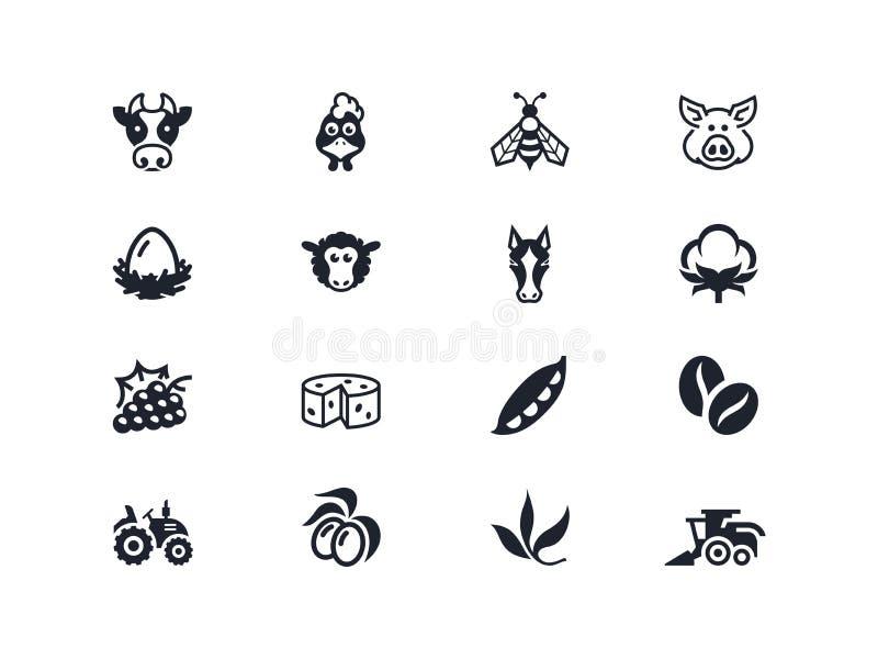 Farm icons 2. Lyra series stock images