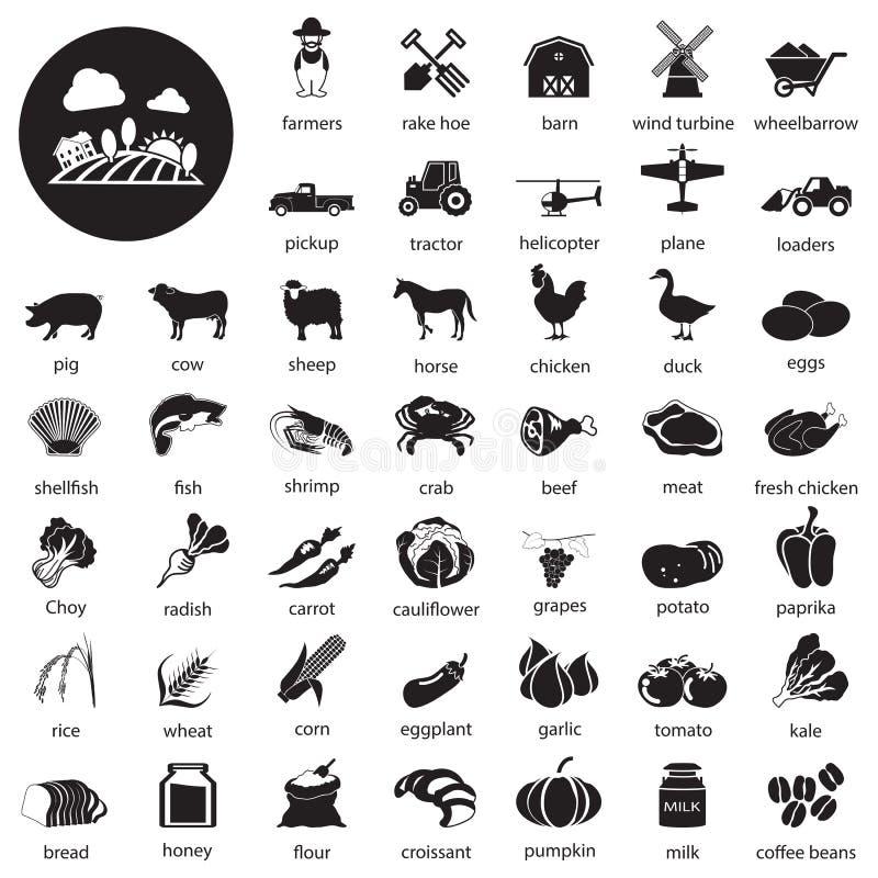 Farm icons Set stock illustration
