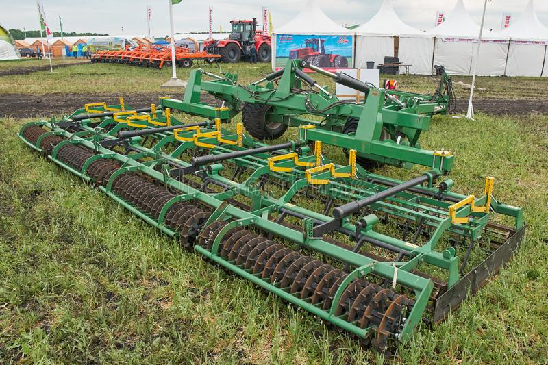 Farm implement. Goryainovka, Mordovia, Russia - June 28, 2019: A farm implement at the public event Russian Plowing Championship stock images