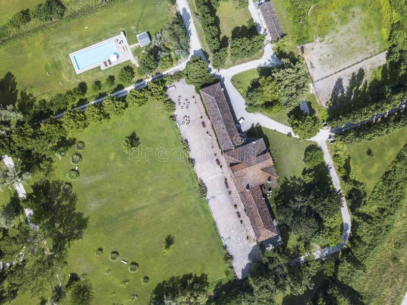 Farm, in Italy royalty free stock image