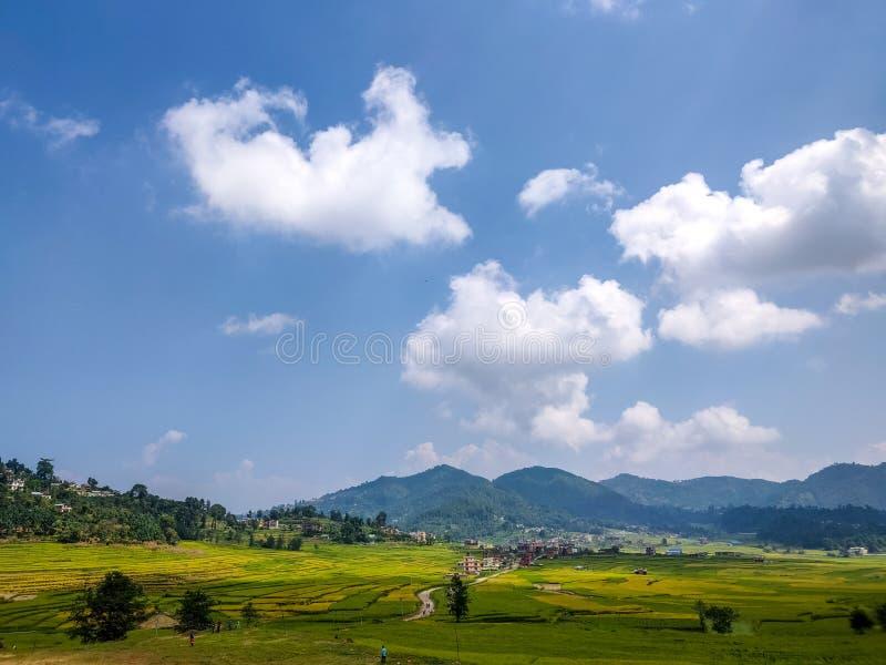 Farm land in Nepal. Farm land and fall season in Nepal royalty free stock image