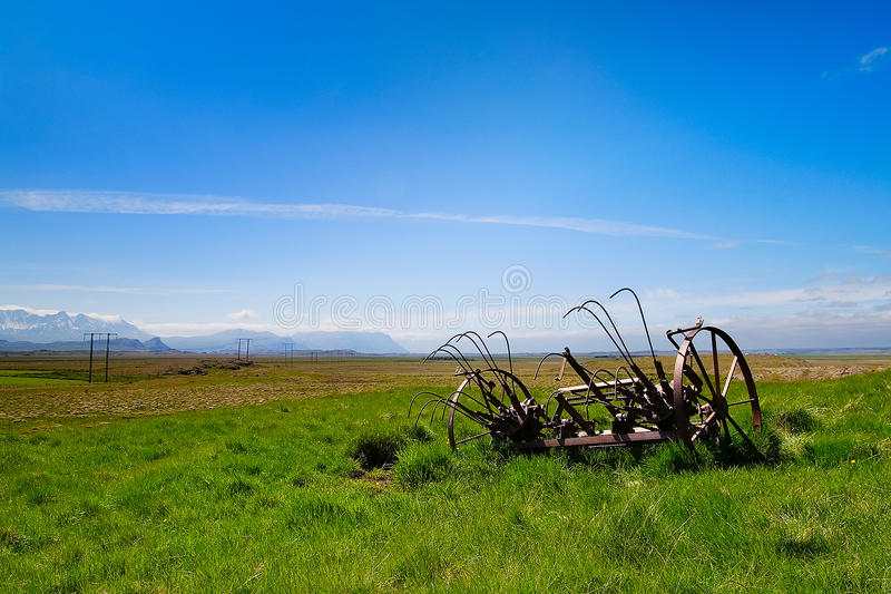 Download Farm Land With Rusty Farming Equipment Stock Photo - Image: 21340134