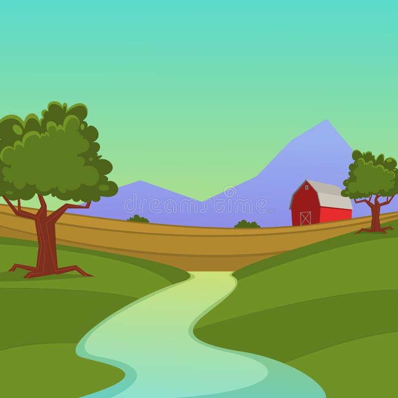 Farm Landscape stock illustration