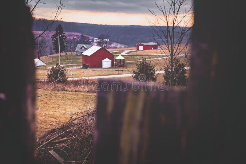 Farm Landscape Winter Pennsylvania royalty free stock photos