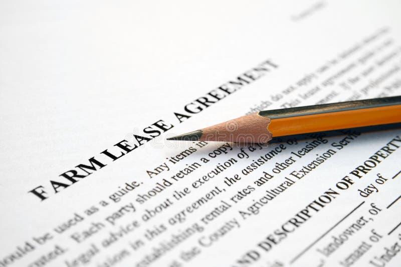 Farm Lease Agreement Royalty Free Stock Photo