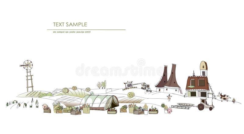 Farm life illustration vector illustration