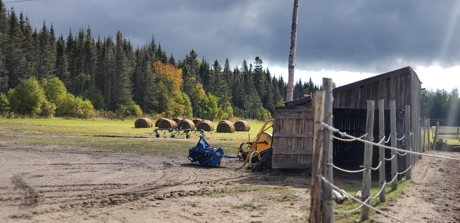 Farm Life. Ranching in Canada& x27;s Quebec region royalty free stock photography