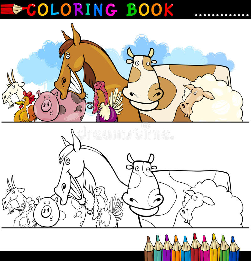Download Farm And Livestock Animals For Coloring Stock Vector - Image: 26476824