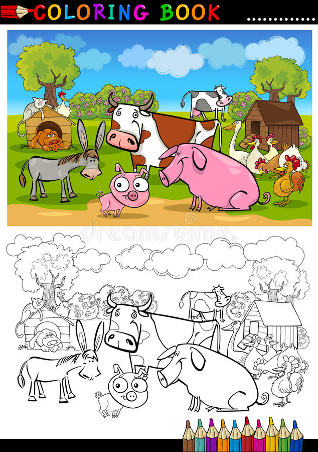 Download Farm And Livestock Animals For Coloring Stock Photo - Image: 26476840