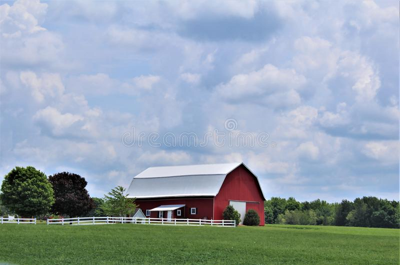 Farm located in Franklin County, upstate New York, United States royalty free stock photography