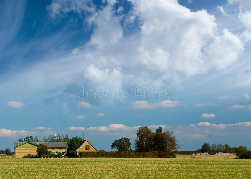 Download Farm in Lolland stock image. Image of farm, house, clouds - 11374375