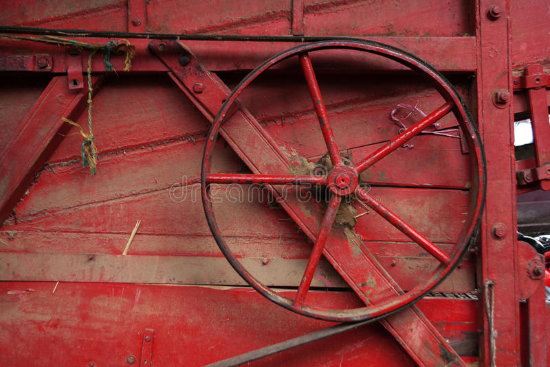Farm machinery. Old farm machinery bearings and pulleys royalty free stock photo