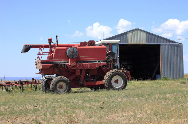Download Farm machinery and shed. stock image. Image of pacific - 25884307