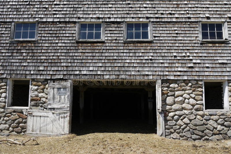 Farm: old barn basement stock photography