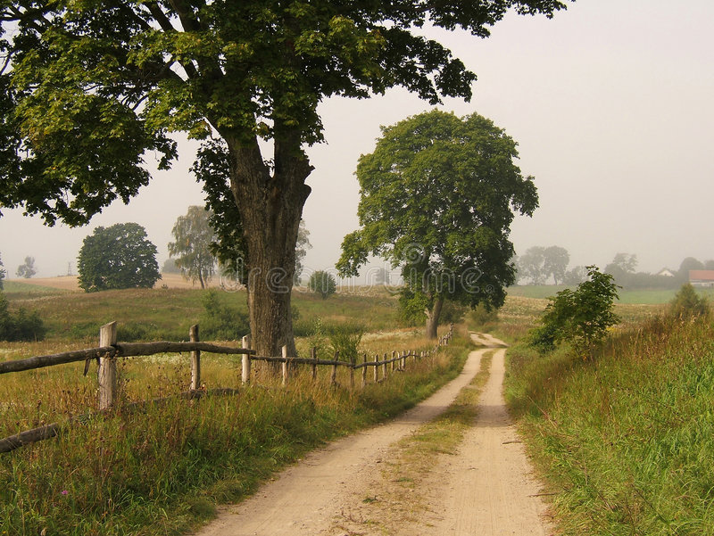 Farm road stock photography