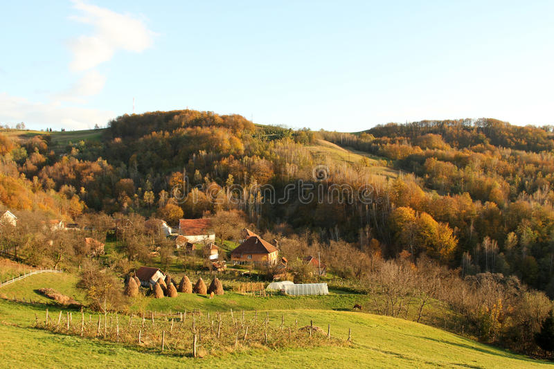 Farm in Serbia. Farm near town Bajina Basta in Serbia royalty free stock photography