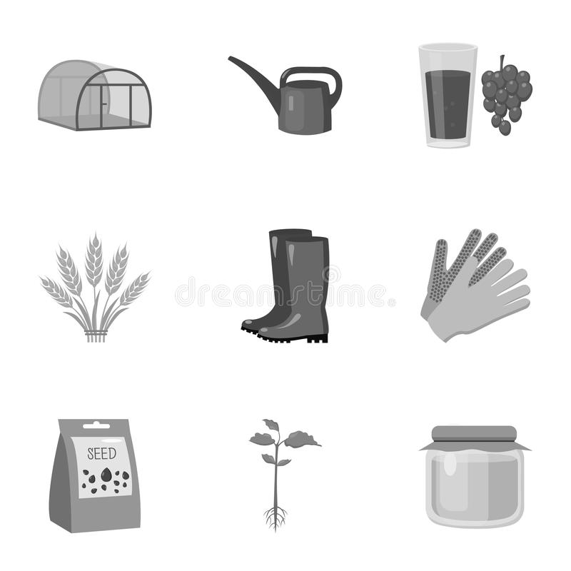 Farm set icons in monochrome style. Big collection of farm vector symbol stock illustration. Farm set icons in monochrome style. Big collection of farm vector royalty free illustration
